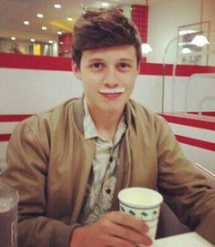 Nick Robinson. Omg I'm laughing so hard. His cute pictures are good, but I love his weird ones even more