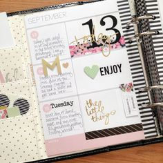 Precocious Paper: September Memory Planner Pages - SRM Stickers