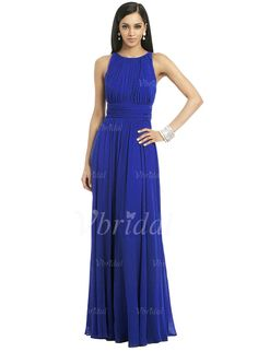 Mother of the Bride Dresses - $108.89 - A-Line/Princess Scoop Neck Floor-Length Chiffon Mother of the Bride Dress With Ruffle (0085060133)