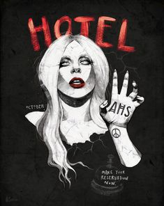 Gaga AHS Hotel - Helen Green Illustration
