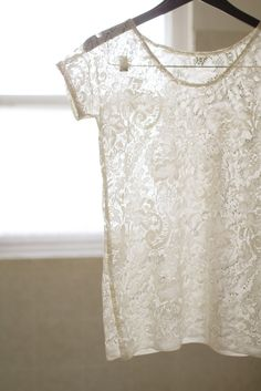 """DIY: lace top I can do a shorter version to put over my wedding dress to make it more """"modest"""" for the ceremony!"""