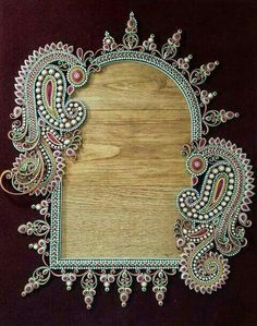 QUILLED FRAME FOR PHOTO, MIRROR OR WORDS OF INSPIRATION.