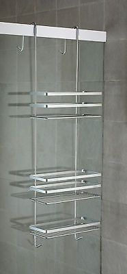 SATINA CHROME HANGING SHOWER CADDY SHELF BASKET TIDY in Home, Furniture & DIY, Bath, Other Bath | eBay