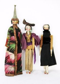 Antique-Grodnertal-Wood-Peg-Dolls-Set-of-3-ca1830
