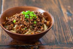 Taiwanese Noodles with Meat Sauce Recipe | Steamy Kitchen Recipes (use ground turkey)