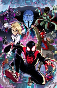 Spiderman and girlfriend Marvel Art, Marvel Heroes, Marvel Avengers, Spiderman Marvel, Ms Marvel, Captain Marvel, Spider Art, Spider Verse, Spider Gwen