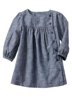 Picture only for Inspiration, Chambray dress Dresses Kids Girl, Cute Dresses, Kids Outfits, Sweater Dresses, Baby Dresses, Little Girl Fashion, Kids Fashion, Dress Anak, Chambray Dress