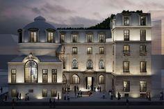 Hôtel particulier, projet de l'agence Perrot & Richard  Situé au 15, rue de la Bûcherie (Paris 5e), ce bâtiment construit vers 1475 pour accueillir la faculté de médecine de Paris, a été transformé en bureaux. Les concepteurs souhaitent perpétuer la tradition d'innovation et de création de l'hôtel particulier, en proposant notamment un « Philantro-Lab », un laboratoire qui sera le premier incubateur tourné vers la philanthropie.