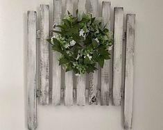 Picket gate | Etsy Picket Gate, Wreaths, Plants, Etsy, Home Decor, Decoration Home, Door Wreaths, Room Decor, Deco Mesh Wreaths