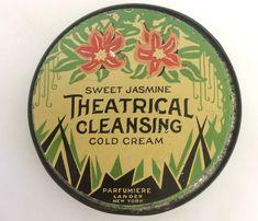 Sweet Jasmine Antique Theatrical Cold Cream Makeup Tin | eBay