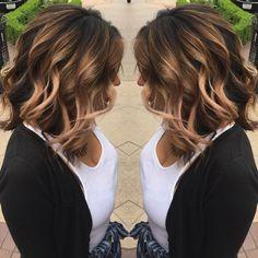 Sombre Blonde on Brunette