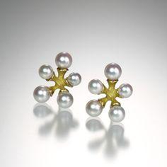 Micro Jack Earrings w/ Pink Pearls - John Iversen