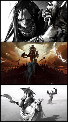 Check out 'Lords of War: Grommash' Illustrations by Laurel D. Austin! http://goo.gl/3xfO4m This work is from 'Part Two' of the animated series providing backstory for Blizzard's upcoming World of Warcraft: Warlords of Draenor expansion.