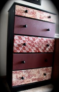 We are going to mod podge our bathroom cabinet with vintage piano sheets!