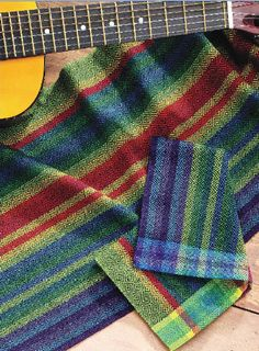 """Make other weavers say, """"Surely that took more than 4 shafts!"""" with this gorgeous runner from Handwoven's 4-shaft twill weaving eBook!"""