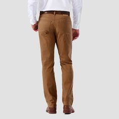 Haggar H26 - Men's 5 Pocket Stretch Twill Pants Camel 34x30