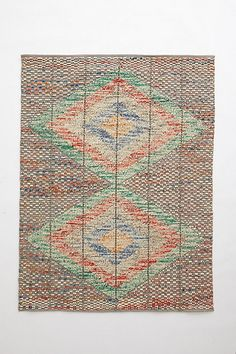 Kilim Pop Stitch Rug  #anthropologie for in front of the changing table