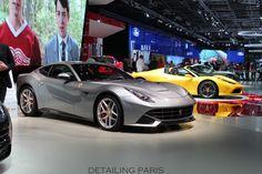 Mondlial de l'automobile 2014 Paris - Stand Ferrari FF / F12 / 458 Speciale A