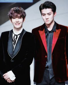 Baekhyun and Sehun looking super handsome and chic. #ByunBaekhyun #OhSehun