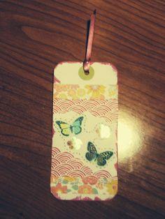 Marcapaginas scrap mariposas.