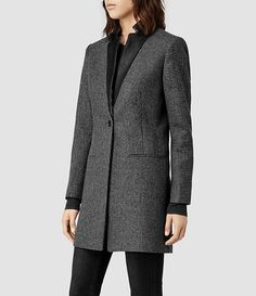 All Saints Lorie Tula Coat (Charcoal). Lovely fit