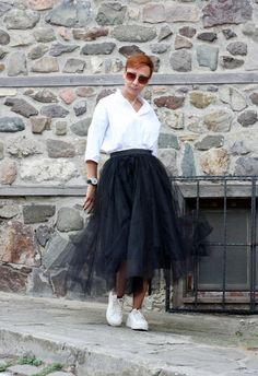 Skirts for women Black skirt Full skirt Tulle skirt Circle White Tulle Skirt, Tulle Skirts, Home Design, Tutu Skirt Women, Tutu Rock, Layered Skirt, Summer Skirts, Skirt Outfits, Skirt Fashion