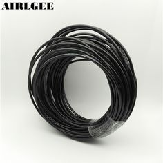 12.54$  Buy now - 4mm OD 2.5mm Inner Dia Black PU Tube Hose Pipe 25m 82ft for Pneumatics  #buymethat