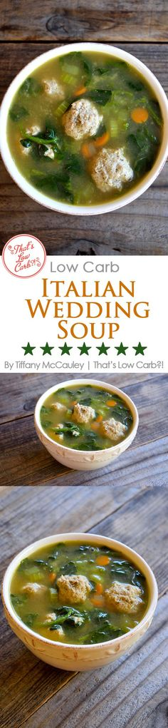 This beloved, traditional Italian Wedding Soup gets a low carb makeover with fabulously delicious results!