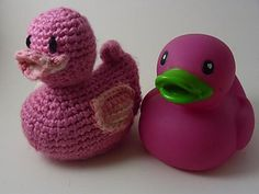 Just Ducky is an amigurumi duck modeled after the classic rubber ducky bath toy.