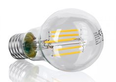 E27 Filament LED Birne 6 Watt dimmbar warmweiss
