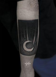 Lukas Zglenicki tattoo forest moon night