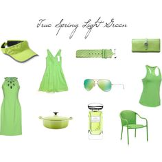 True Spring Light Green by christinems on Polyvore featuring Mode, Versace…