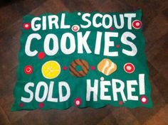 Scout Troop Cookie Booth Sales banners by feltdeluxe on Etsy- Cute!!! I bet it would be sort of easy to make