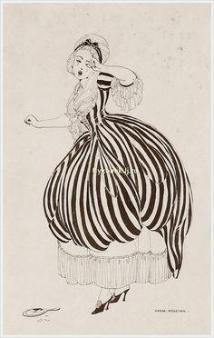 Gerda Wegener (Danish, 1886-1940) drawing