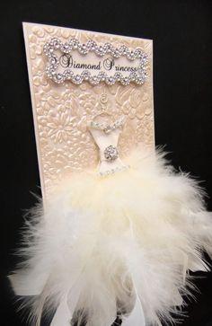 Diamond Princess Personalized Card / DL Size / Handmade Greeting Card. $19.50, via Etsy.