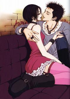 """Nana Osaki & boyfriend from """"Nana"""" series by manga artist Ai Yazawa."""