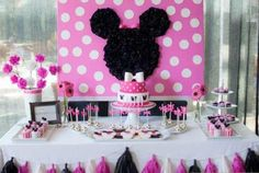 Minnie Mouse Dessert Table, found on catchmyparty.com
