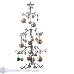 unique metal scroll christmas ornament display tree 39 34 black - Small Metal Christmas Tree