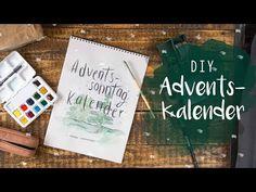 DIY Adventskalender mit Handlettering und Wasserfarbe / Watercolour / Aquarell - YouTube