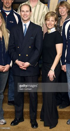 The Earl & Countess Of Wessex Attend The Alpine World Ski Championships In St Moritz. .