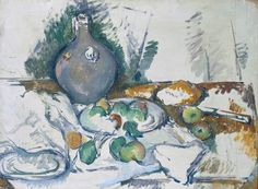 Still Life with Water Jug (Nature morte à la cruche) 1892/93 Cezanne Oil on canvas ARTUK