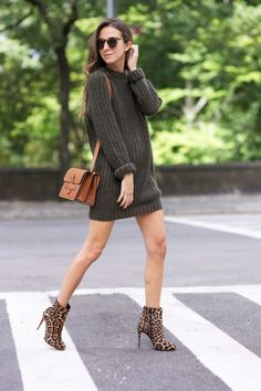 knit-dress-and-leopard-boots via