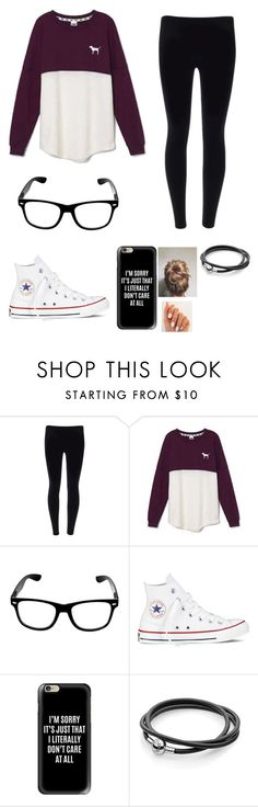 """Chilling At Home"" by takhya on Polyvore featuring Victoria's Secret, Converse and Casetify"