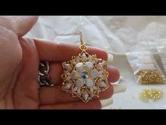 DIY Tutorial Orecchini Alma con honeycomb e diamonduo - YouTube
