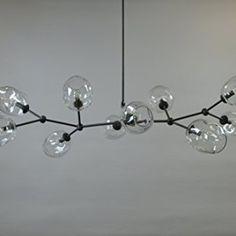 10 Globe Staccato Branch Chandelier Handmade in USA! Dining Table Lighting, Kitchen Island Lighting, Branch Chandelier, Bow Light, Oil Rubbed Bronze, Bronze Finish, Light Fixtures, Glass Art, Globe