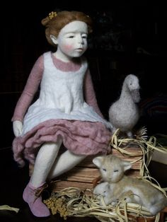 OOAK Artdoll  Felt Sculptur by  Elena Petrovich, Ukraine