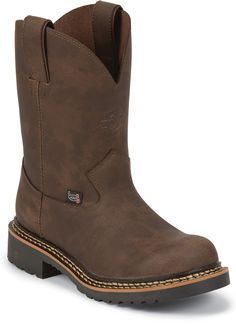 Justin Boots Rugged Bay Gaucho Cow Workboots (Toddler / Youth) – Go Shop Shoes Boys Western Boots, Cowboy Boots, Amazon Associates, Justin Boots, Discount Toms, Gaucho, Boots Online, Black Rubber, Boys Shoes