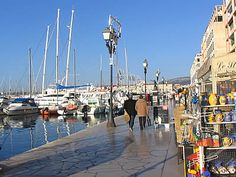 The port at Toulon