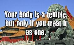 Your body is a temple. #getadjusted #chiro