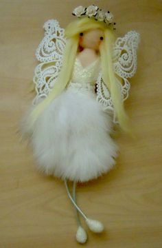 angel felting doll